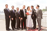 Wedding party at Chelsea Piers