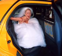 Bride in NYC Cab