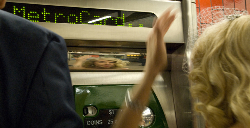 Brides Spruces up Herself in reflection of Token Machine NYC